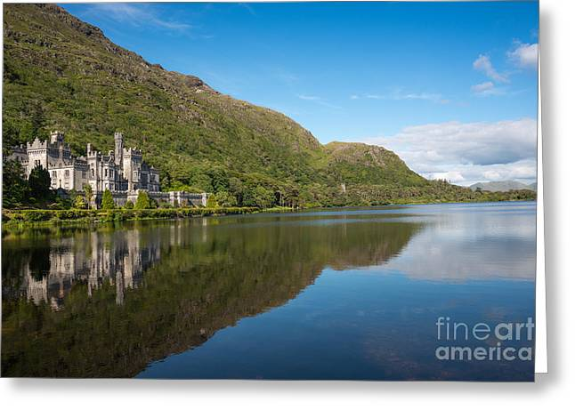 Abbey On The Lake Greeting Card by Andrew  Michael