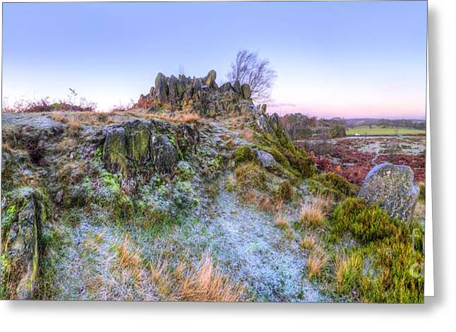 Hdr Landscape Greeting Cards - Abbey Road Hill Panorama Greeting Card by Yhun Suarez