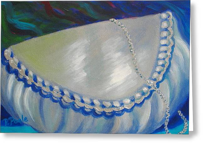 Evening Handbag Greeting Cards - Abbyes Silver Bag Greeting Card by Pamela Poole