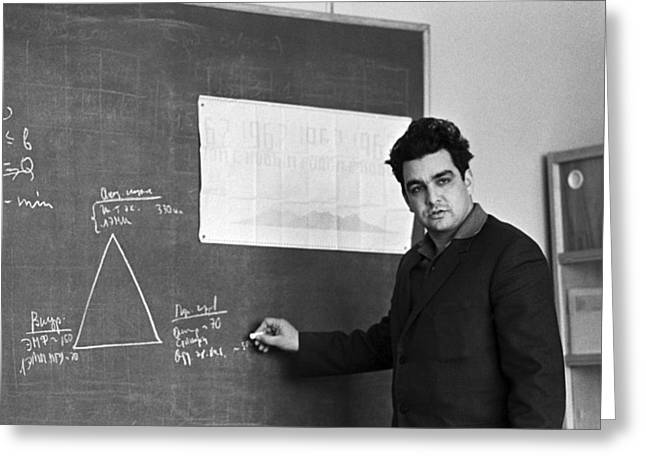 Reform Photographs Greeting Cards - Abel Aganbegyan, Soviet Economist Greeting Card by Ria Novosti