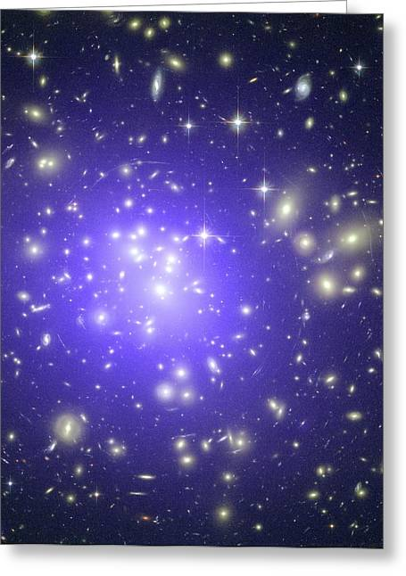 Intergalactic Space Greeting Cards - Abell 1689 Galaxy Cluster, X-ray Image Greeting Card by Nasacxcstscimite-h Peng Et Al