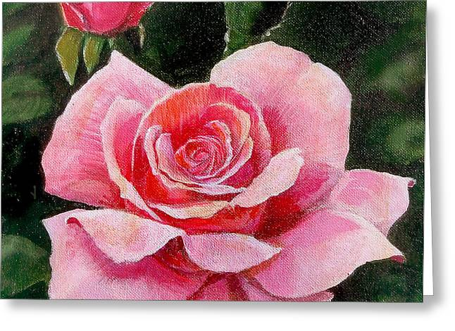 Abigail Rose Greeting Card by Edward Farber