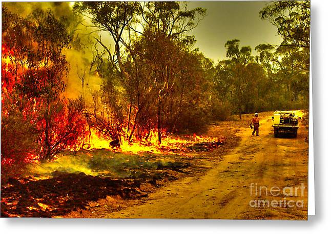 Joanne Kocwin Photographs Greeting Cards - Ablaze Greeting Card by Joanne Kocwin