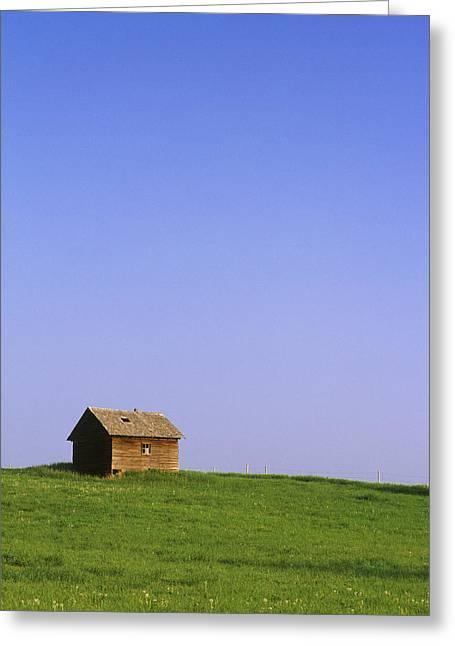 Barn Door Greeting Cards - Abondoned Shack Greeting Card by Darwin Wiggett