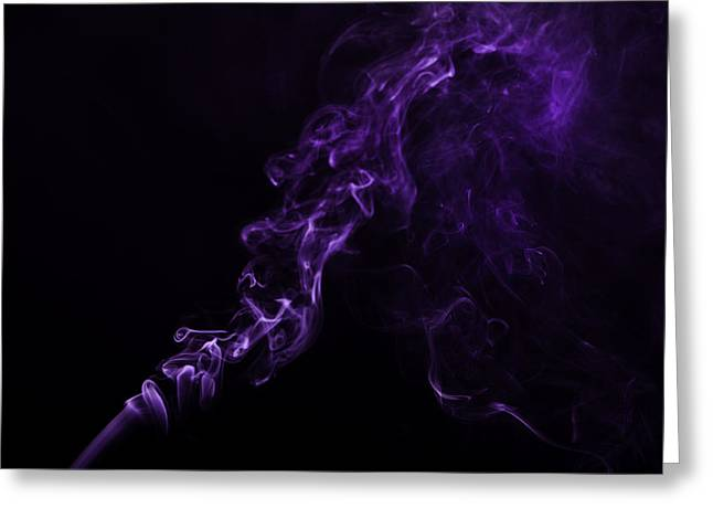 About Purple Greeting Card by M K  Miller