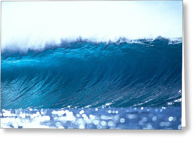 Ocean Art Photos Greeting Cards - About To Break Greeting Card by Vince Cavataio - Printscapes