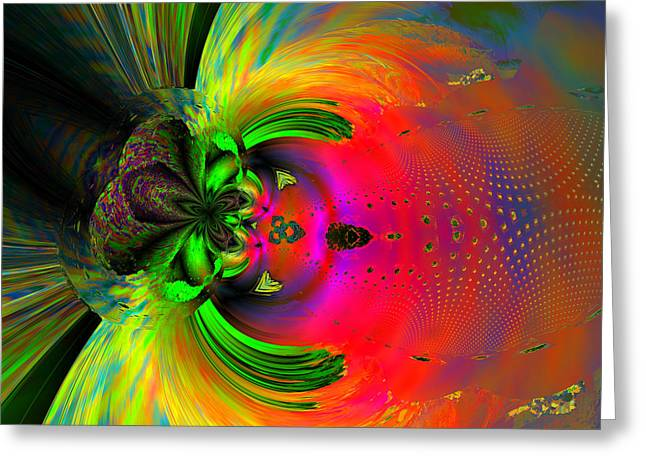 Computer Generated Abstract Greeting Cards - About to grasp lunch Greeting Card by Claude McCoy