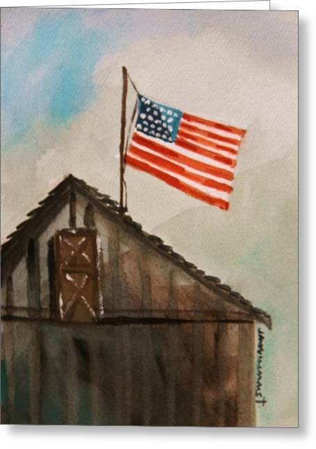 All American Drawings Greeting Cards - Above All Greeting Card by John  Williams