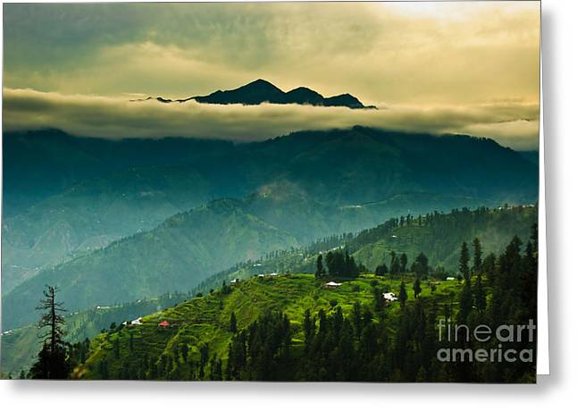 """high Peaks"" Greeting Cards - Above Clouds Greeting Card by Syed Aqueel"