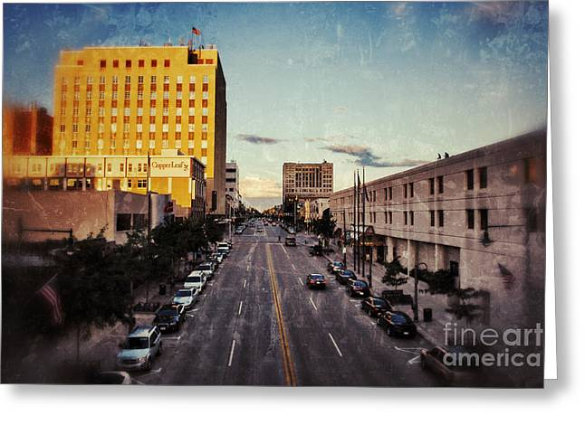 Downtown Appleton Photographs Greeting Cards - Above College Avenue Greeting Card by Shutter Happens Photography