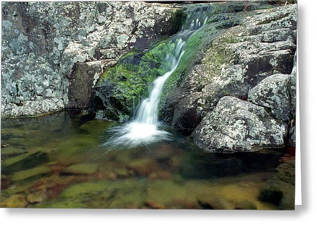 Taum Sauk Greeting Cards - Above Mina Sauk Falls in Taum Sauk Mountain State Park Greeting Card by Greg Matchick