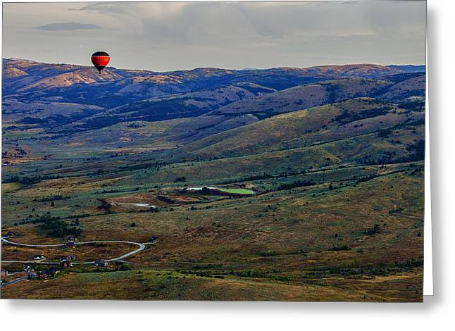 Valley Green Greeting Cards - Above Greeting Card by Rick Berk