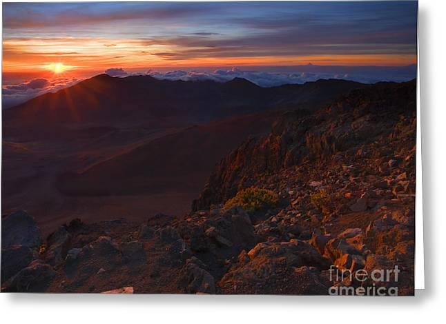 Haleakala Maui Greeting Cards - Above the Clouds Greeting Card by Mike  Dawson