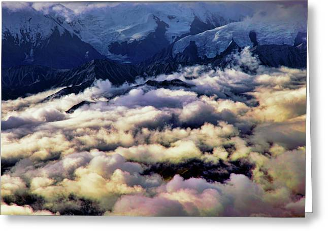 Denali Greeting Cards - Above The Clouds Greeting Card by Rick Berk