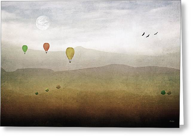 Art In Acrylic Greeting Cards - Above The Rolling Hills Greeting Card by Tom York Images
