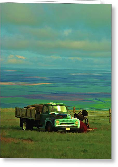 Field. Cloud Digital Art Greeting Cards - Above the Valley Greeting Card by Dale Stillman