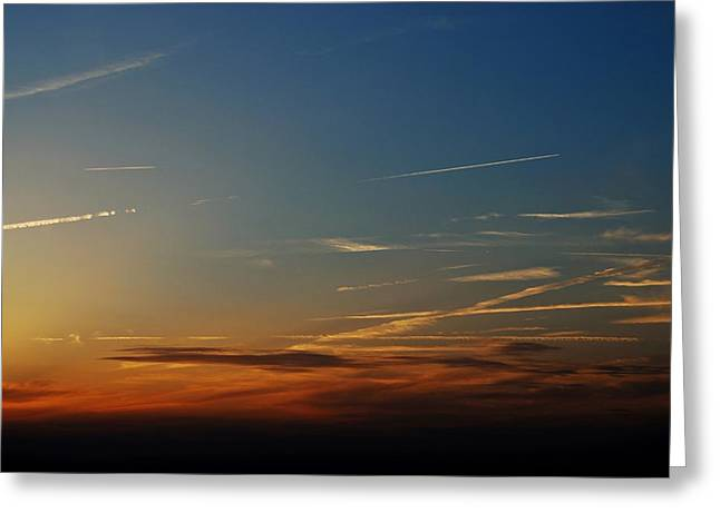Trial Greeting Cards - Above us Only Sky Greeting Card by Dean Harte