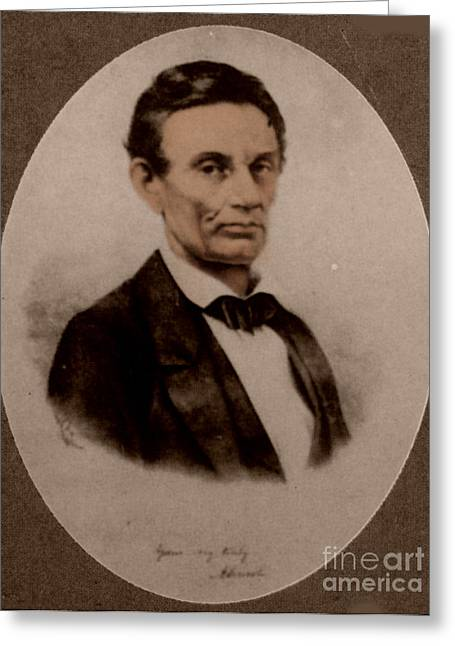 Proclamation Greeting Cards - Abraham Lincoln, 16th American President Greeting Card by Science Source