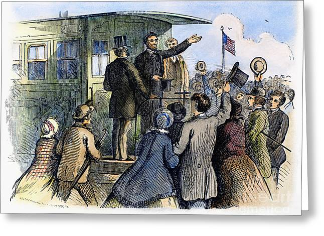 Whistlestop Greeting Cards - Abraham Lincoln (1809-1865) Greeting Card by Granger