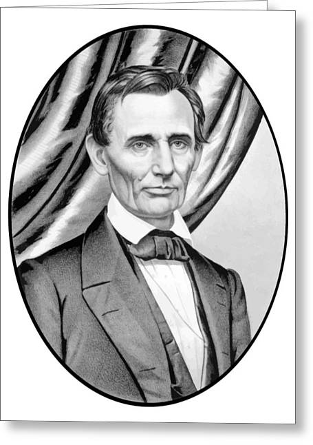 Honest Greeting Cards - Abraham Lincoln Circa 1860 Greeting Card by War Is Hell Store