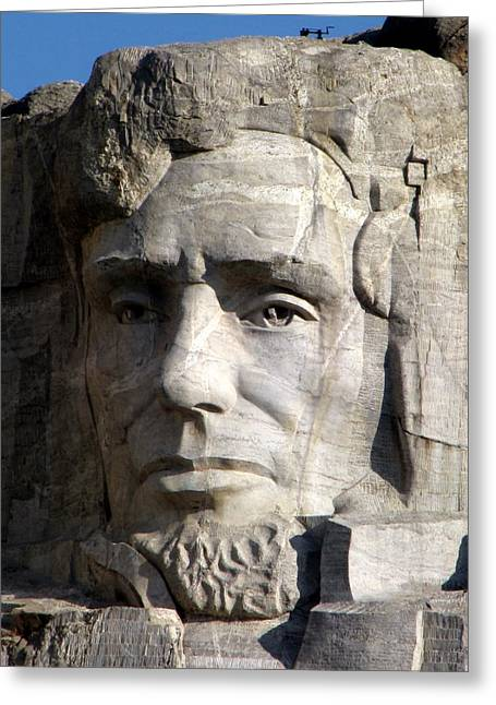 Borglum Greeting Cards - Abraham Lincoln in Granite  Greeting Card by Dan Davis