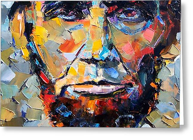 Abraham Lincoln portrait Greeting Card by Debra Hurd