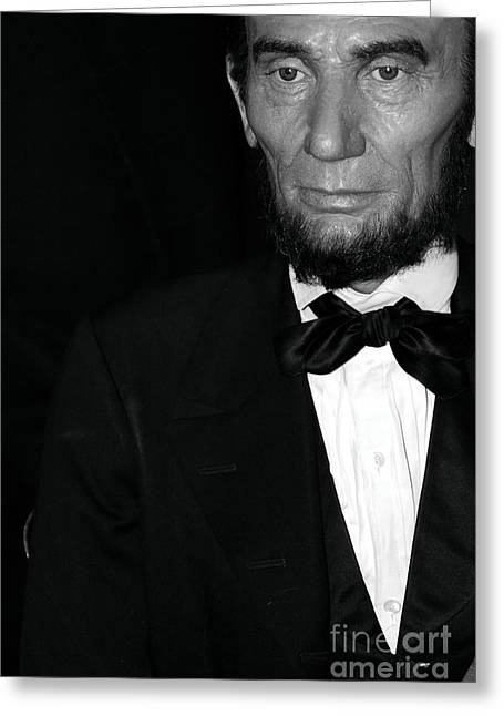 Statue Portrait Greeting Cards - Abraham Lincoln Greeting Card by Sophie Vigneault