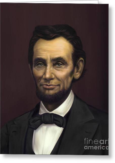Sue Brehant Greeting Cards - Abraham Lincoln Greeting Card by Sue  Brehant