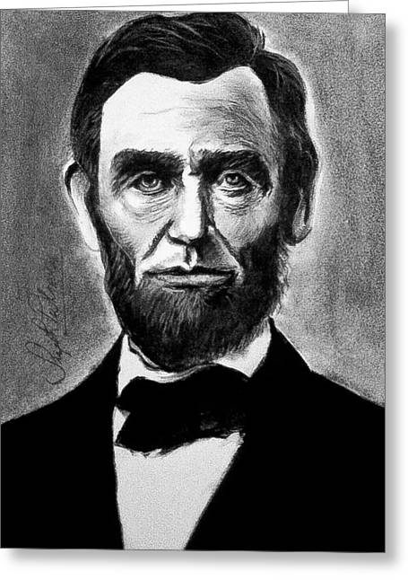 President Of America Drawings Greeting Cards - Abraham Lincoln Greeting Card by Sujith Puthran