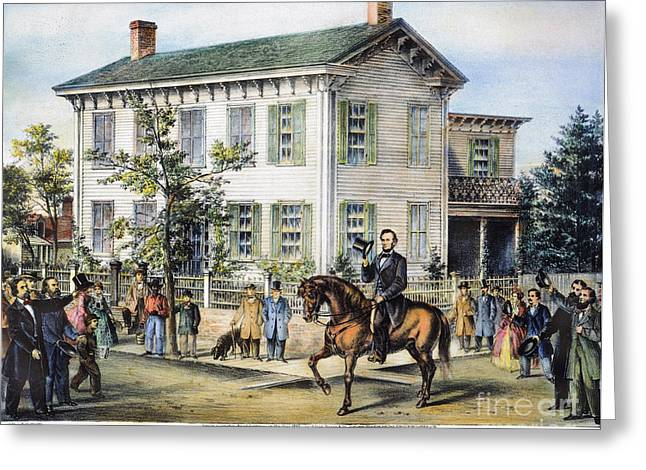 Republican Greeting Cards - Abraham Lincolns Home Greeting Card by Granger