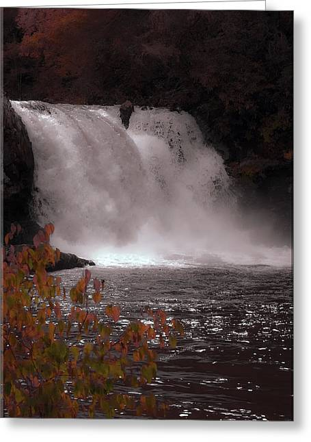 Abrams Falls In Autumn Greeting Card by DigiArt Diaries by Vicky B Fuller