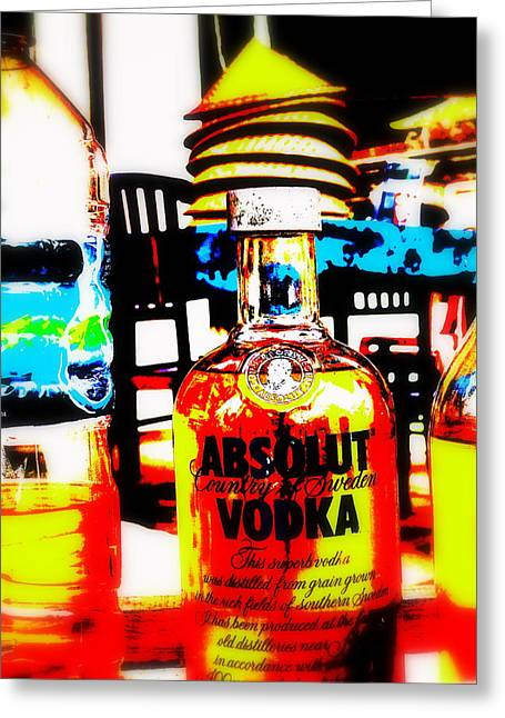 Graffitis Greeting Cards - Absolut Gasoline Refills for Bali Bikes Greeting Card by Funkpix Photo Hunter