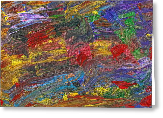 Abstract - Acrylic - Anger Joy Stability Greeting Card by Mike Savad