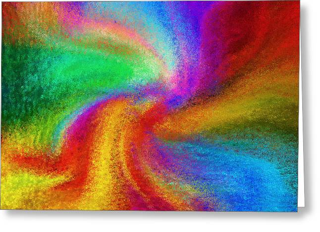 Abstract Digital Mixed Media Greeting Cards - Abstract - Amorphous  Greeting Card by Steve Ohlsen