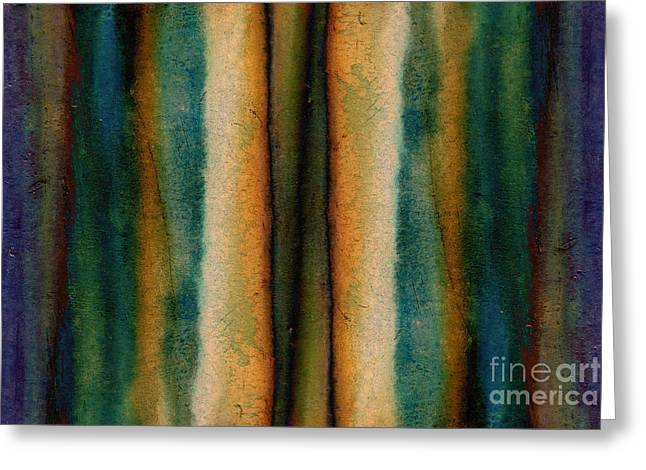 Metal Sheet Greeting Cards - Abstract - Painted Rusty Iron Greeting Card by Michal Boubin