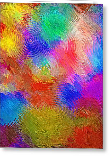 Morphing Greeting Cards - Abstract - Ripples Greeting Card by Steve Ohlsen