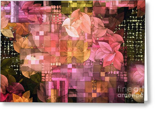 Trellis Greeting Cards - Abstract .. Trellis Greeting Card by Elaine Manley