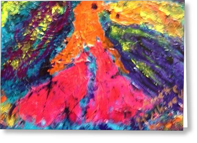 Abstract 1 Greeting Card by Annette McElhiney