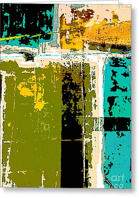 Color Block Greeting Cards - Abstract 1 Greeting Card by Glennis Siverson