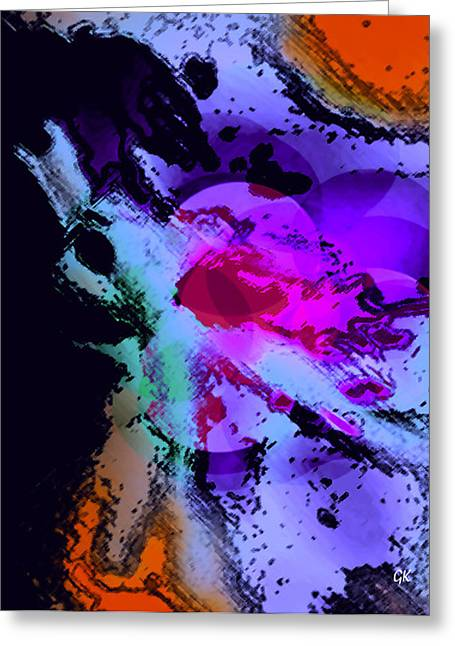Large Poster Greeting Cards - Abstract 10 Greeting Card by Gerlinde Keating - Keating Associates Inc