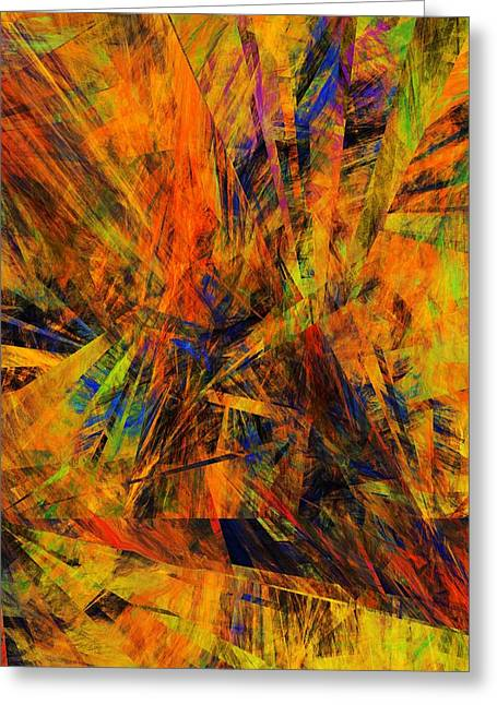 Abstract 100611 Greeting Card by David Lane