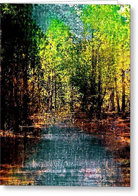 Abstract Digital Light Trails Greeting Cards - Abstract 104 Greeting Card by Pamela Cooper