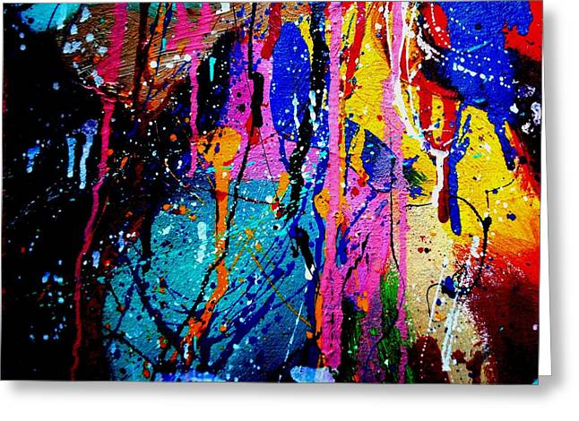 Expressionism Mixed Media Greeting Cards - Abstract 15 Greeting Card by John  Nolan
