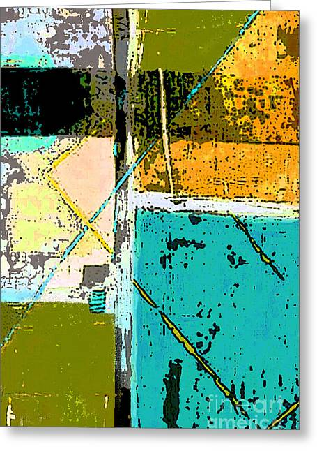 Color Block Greeting Cards - Abstract 2 Greeting Card by Glennis Siverson