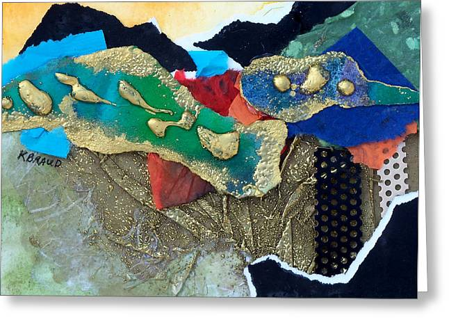 Abstract 2011 No.1 Greeting Card by Kathy Braud