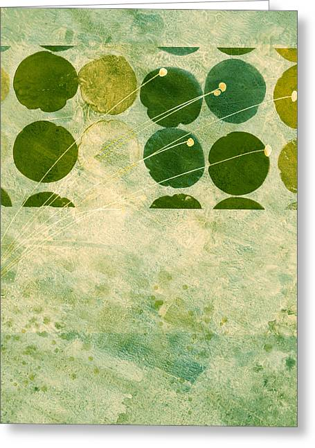 Moss Green Greeting Cards - Abstract 207 Greeting Card by Ann Powell