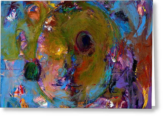 Cobalt Blues Greeting Cards - Abstract 233 Greeting Card by Johnathan Harris