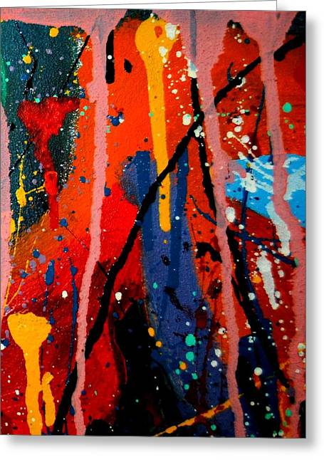 Expressionism Mixed Media Greeting Cards - Abstract 3  Greeting Card by John  Nolan