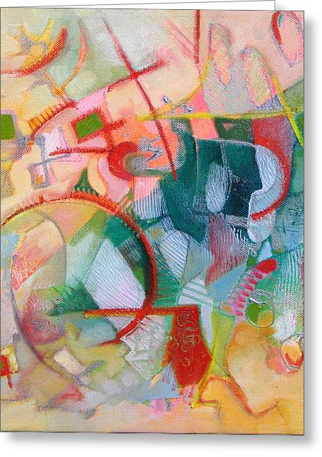 Small Abstract Greeting Cards - Abstract 3 Greeting Card by Susanne Clark