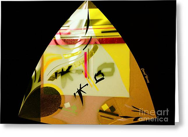Creating Greeting Cards - Abstract 31 Greeting Card by Cheryl Young